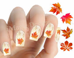 nail decals water slide nail transfer stickers for autumn