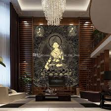 Buddha Room Decor 3d Buddha Wallpaper Buddha Statue Of Thangka Wall Mural Custom