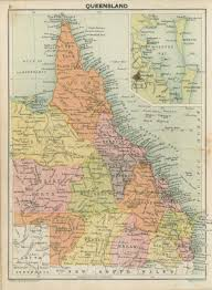 Map Of Queensland Civil Government Boundaries Queensland Historical Atlas
