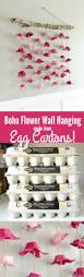 boho flower wall hanging made from egg cartons egg cartons boho