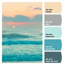 subdued ocean sunset muted blues cool tones palette greys grays