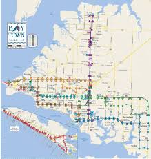 Map Of Panama City Beach Florida by Routes Bay Town Trolley