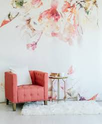 spring floral large wall mural watercolor wallpaper zoom