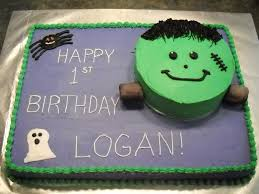 1st Birthday Halloween Cake by Three Degree Cakes