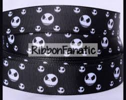 skellington ribbon 5 yds skellington ribbon from keywaredesigns on etsy studio