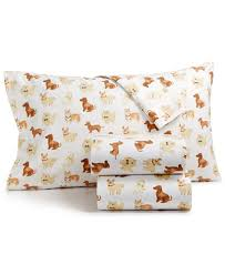 martha stewart collection show dogs 100 cotton flannel sheet sets