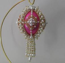 beaded christmas ornament pattern pay with paypal and receive
