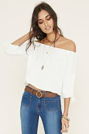 Shoulder Top - 20 style tips on how to wear the shoulder shirts gurl com