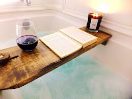 bronze bathtub caddy pretty bath tub tray bathroom tubay expandable natural bamboo