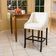 shop best selling home decor milano white bar stool at lowes com