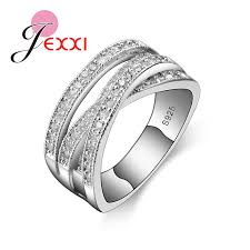 rings ladies silver images Jexxi luxury 925 sterling silver engagemen ring for women female jpg