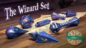 polyhero dice wizard set by polyhero dice kickstarter