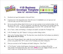 number 10 envelope template business envelope templates 12 free printable word pdf psd
