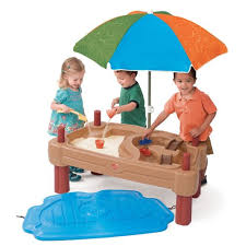 step 2 water table with umbrella amazon com step2 play up adjustable sand water table toys games