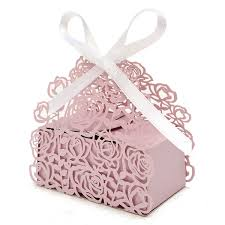 ribbon lace 12 pcs lace ribbon hollow out paper candy boxes wedding