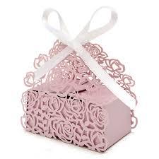 ribbon lace 12 pcs lace ribbon hollow out paper candy boxes wedding