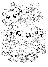 coloriage de hamster facile