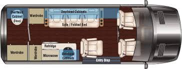 Conversion Van Floor Plans Promaster Legend Class B Sprinter Van