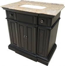 Bathroom Vanities 36 Inches 36 Inch Single Sink Bathroom Vanity With A Distressed Black Finish