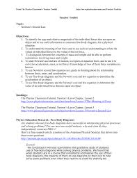 teacher toolkit topic newton s second law objectives 1 to