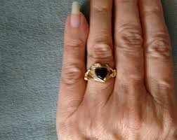 avon wedding rings avon black onyx ring etsy
