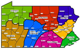 map of counties in pa pala chapters pennsylvania library association