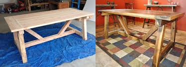 How To Build A Wooden Picnic Table by How To Build A Rustic And Bold Farm Table