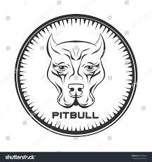 pitbull halloween background pit bull terrier label dog face stock illustration 255385870