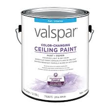 shop valspar ceiling color changing flat latex interior paint and