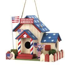 birdhouse home decor birdhouse 4th july home garden decor american usa flag uncle sam