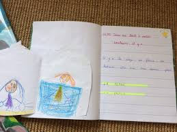 Cahier décrivain et poissons émotions en GS chez Marie B  école