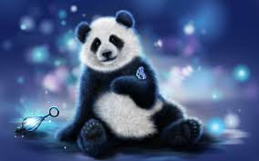 cute panda wallpapers desktop wallpapersafari