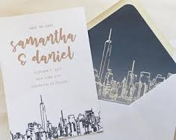 wedding invitations new york new york city wedding invitation laser cut skyline special nyc