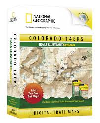 Stone Mountain Map Colorado 14ers Trails Illustrated Explorer National Geograhic