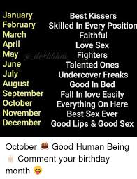 Sex Position Memes - 25 best memes about birthday month birthday month memes