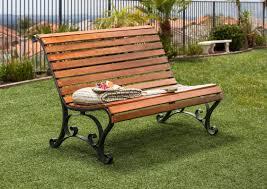 hokku designs simply slatted outdoor garden bench u0026 reviews wayfair