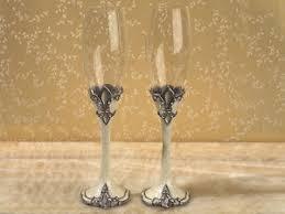 fleur de lis chagne flutes fleur de lis glasses ebay