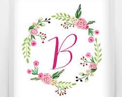 monogram letter b letter b monogram etsy