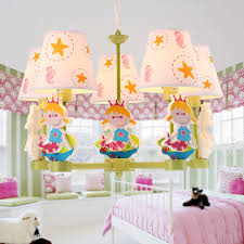 Kid Chandeliers Modern 5 Light Fabric Shade Kid Chandeliers For Bedroom