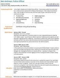 police detective resume police officer cv example learnist org