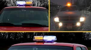 mirror mount beacon lights review 8 mode 240 led warning hazard strobe light magnetic mount