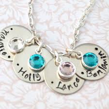 mothers day birthstone necklace birthstone necklace sted mothers gift kids names
