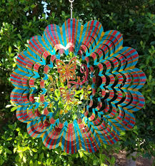 butterfly 3d multi color garden wind spinner metal yard art and