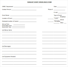 event order template u2013 12 free excel pdf documents download