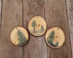 wood slice ornament etsy