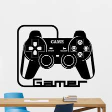 online buy wholesale gaming decoration from china gaming g053 gamer wall decal video gaming room vinyl sticker gamepad art decor mural china