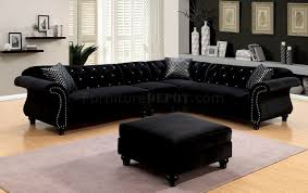 Black Fabric Sectional Sofas Jolanda Ii Sectional Sofa Cm6158bk In Black Fabric W Options