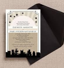 vintage hollywood wedding invitation from 1 00 each