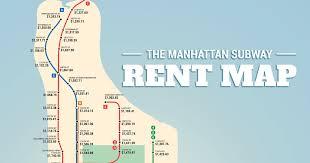 map of manhattan manhattan subway rent map thrillist