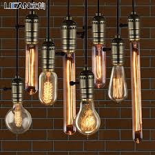 Vintage Light Bulb Pendant Light Bulb Pendant Light Nostalgic Vintage Light Source Bar Table